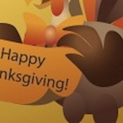THANKSGIVING WEB SET 10644- 'HAPPY THANKSGIVING DAY'